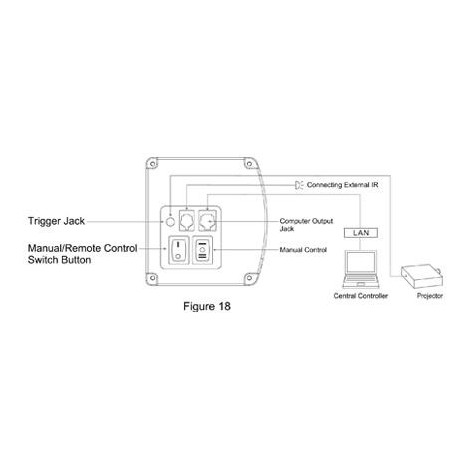 Projectiescherm 92 inch, 16:9