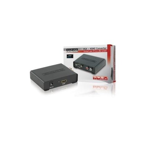 VGA naar HDMI omvormer met audio