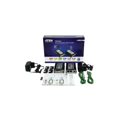 Aten DVI Cat 5 extender met audio